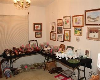 Original Art by Evelyn Trindle (Watercolors), Overview of Dining Area