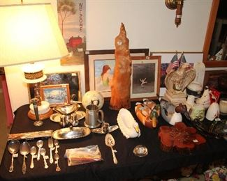 Pewter, Serving Utensils, Lamps, Cypress Knee