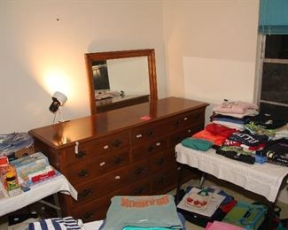 Ethan Allen Triple Dresser with Mirror