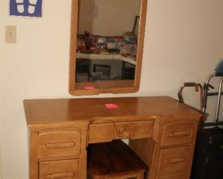Vanity with Mirror and Bench
