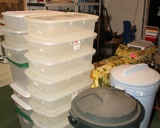 Storage Totes, Trash Cans