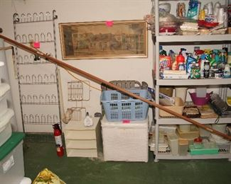 Shoe Rack, Hamper, Laundry Baskets, Shelves, Cleaning Products, Paper Supplies