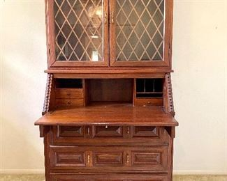"""Ricardo Lynn 1970's Secretary Cabinet, Two Piece                Measures 39""""w x 19""""dp x  73"""" h, or 41""""h with top portion removed.  $500"""