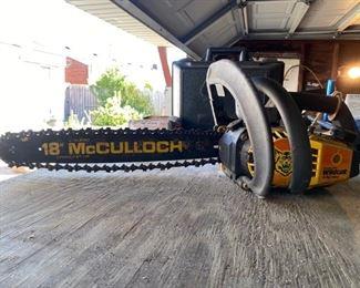 McCulloch Wildcat Chain Saw
