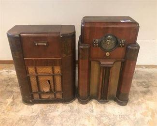 001 Two Vintage Radios