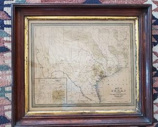 ANTIQUE ORIGINAL MAP OF TEXAS