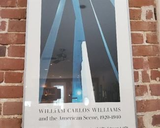 "Georgia O'Keeffe's City Night (1926) painting is used as a marquee image on this poster for the 1978  ""William Carlos Williams"" Exhibit"