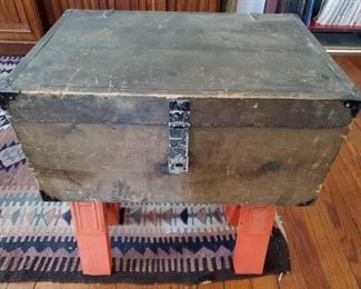 ANTIQUE HAND MADE TRUNK