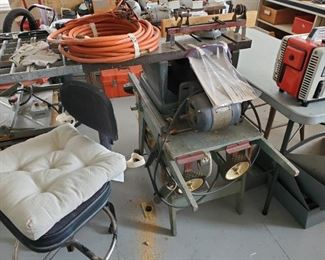 VINTAGE CRAFTSMAN TABLE SAW & MISC. ITEMS