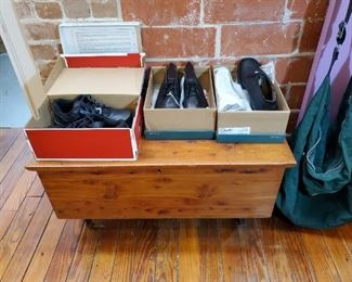 MEN'S BRAND NEW SHOES...SMALL CEDAR CHEST
