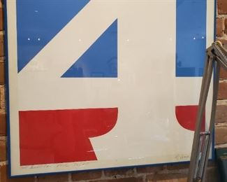"Robert Indiana ""THE AMERICA OF 4"" s/n print"