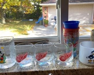 Red Wing Drinking Glasses