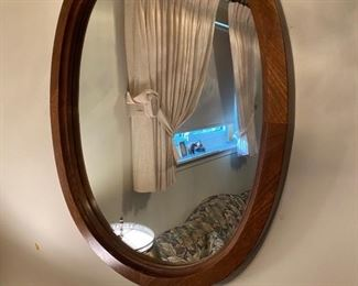 Oval Mirror - Wood Frame