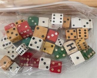 Assorted Vintage Dice