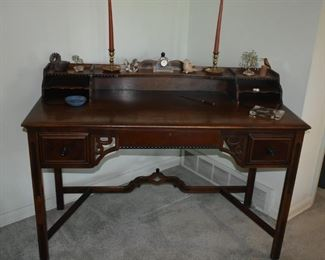 Berkey & Gay (B&G) Writing Desk; Purchased by Grace S. Dockeray in 1924; her father-in-law (Snellink) worked at Berkey & Gay.It is an original Salesman's sample and may be a one-of-a-kind. The Salesman decided it wouldn't be a seller - and they never made another one.  ca. 1920's