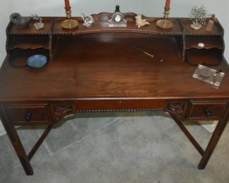 Berkey & Gay Ladies Writing Desk; Purchased by Grace S. Dockeray in 1924; her father-in-law (Snellink) worked at Berkey & Gay.It is an original Salesman's sample and may be a one-of-a-kind. The Salesman decided it wouldn't be a seller - and they never made another one.  ca. 1920's