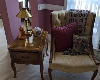 French Provincial Chairs and End Tables