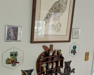 Owl Decor and Collectibles(Print, Wall Hangings, Figurines)