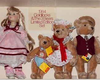 $400 1984 Goldilocks and the 3 Bears Limited Edition Set /signed by Suzanne Gibson