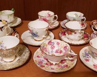 Vintage Bone China Tea Cups & Saucers