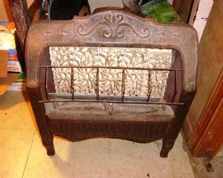 Vintage gas heater with all bricks