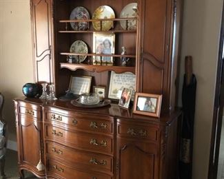 Breakfront china cabinet bowed front