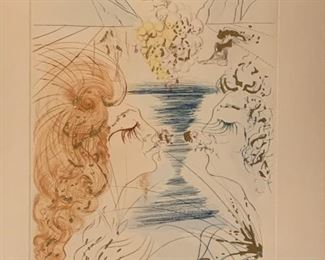 "Title ""Let Him Kiss Me On The Mouth"" AP pencil signed Dali $250."