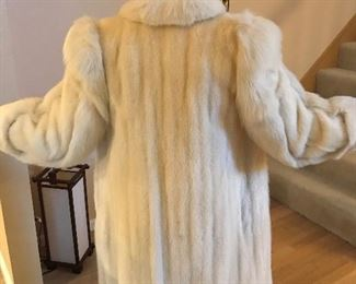 This is a to the floor white mink from Hopper Furs size 12 $500.