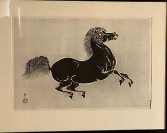 Tamikichiro Tokuriki born 1902, Kyoto HORSE.         $175.