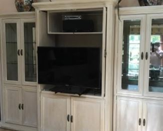 Large display and entertainment center. 12 feet long and 7 feet tall.  It comes in 5 individual pieces.