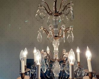 """French chandelier                                                         650.00                36""""h x 25""""w"""