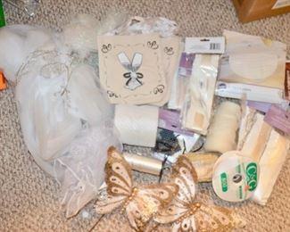 box lot of wedding decorations