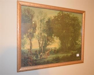 """""""Dance of the Nymphs"""" vintage lithograph"""
