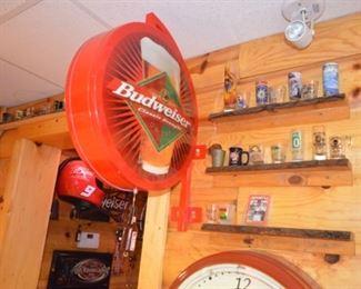 Budweiser double sided bar sign