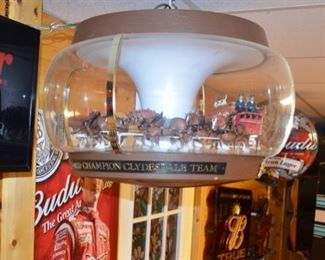"""Fabulous Budweiser """"Clydesdales on Parade"""" motion carousel bar light"""