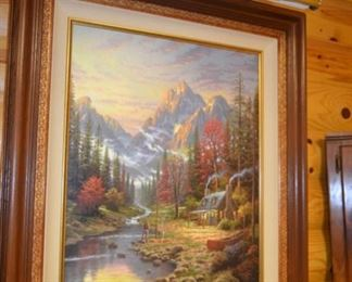 """""""The Good Life"""" """"Beginning of a Perfect Evening"""" by Thomas Kinkade"""