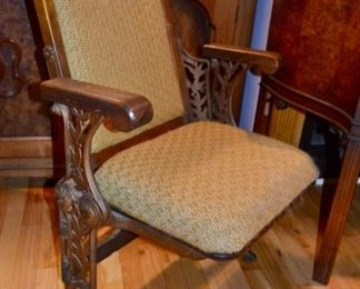 vintage theater chair - said to have come out of The Fox Theater in Atlanta