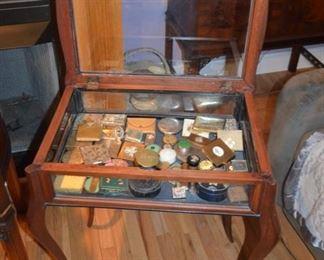 vintage display case table