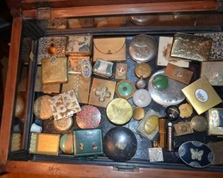 vintage compact powder collection
