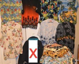 50+ Hawaiian shirts - mostly men's 2x & 3x