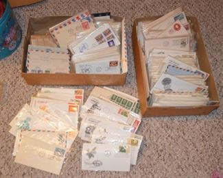 stamp collection - many first day issue.