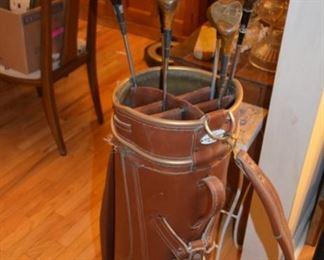 vintage wood golf clubs