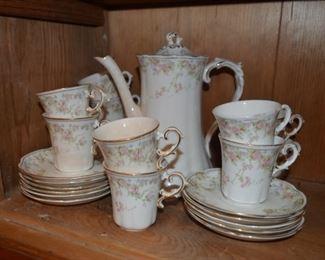 "Homer Laughlin ""Hudson"" chocolate or tea set"