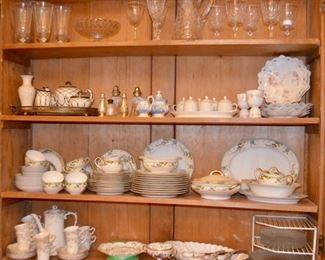 selection of china & crystal