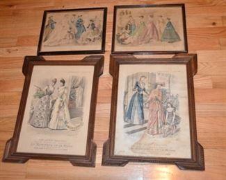 1800's fashion prints