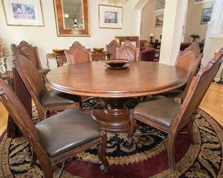 All word large round table with additional leaves