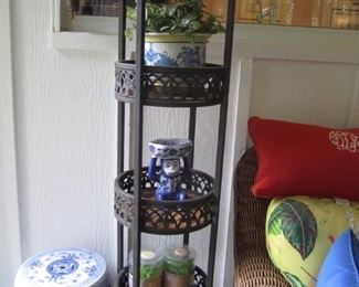 TIERED STAND AND DECOR