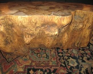 SIDE OF PETRIFIED COCKTAIL TABLE