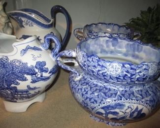 BLUE AND WHITE ITEMS