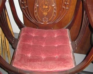 PAIR OF 1870'S CHAIRS